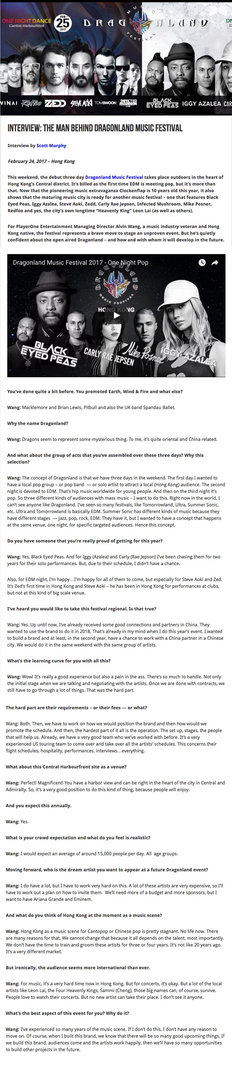 Interview The Man Behind DMF